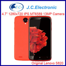 "4.7"" IPS 1280x720px Lenovo S820 express MTK6589 Quad Core Mobile Phones 13mp 3G/WCDMA Android 4.2 white red Spanish"