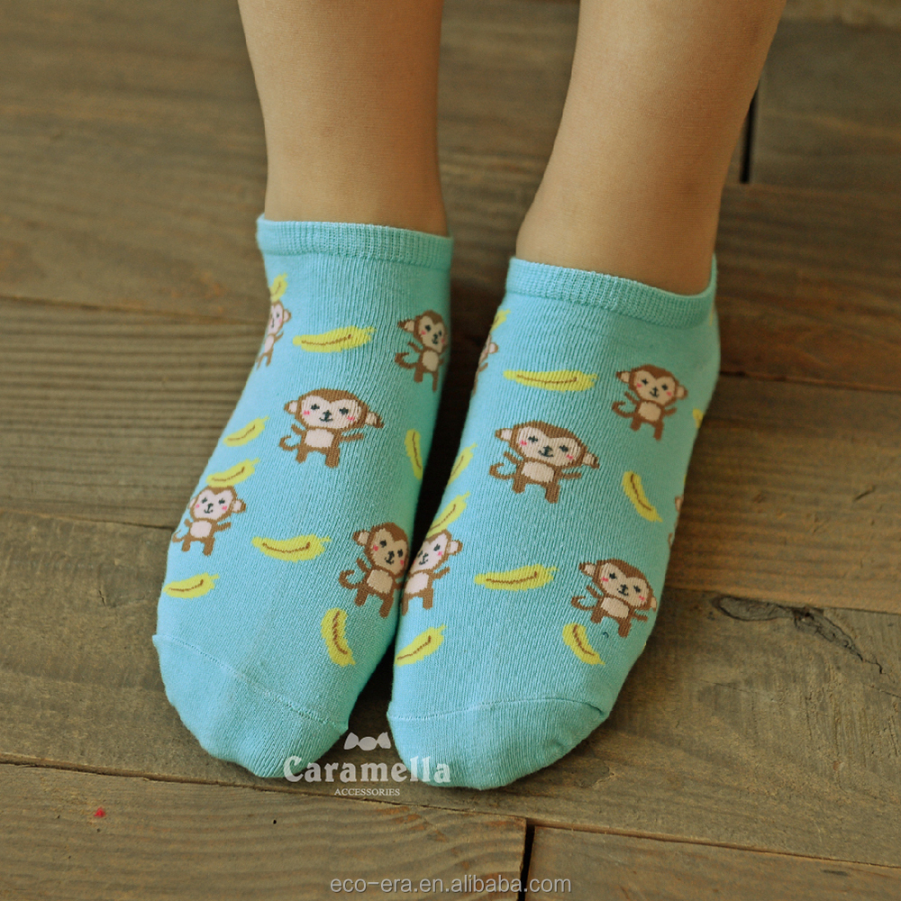 New Fashion Boot Socks 100% Cotton Ladies Cartoon Tube Socks