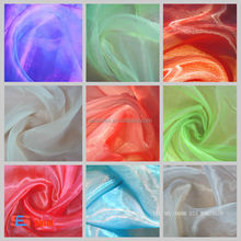 Hot sale 100% polyester Bridal Crystal organza cheap fabric rolls with cheap price