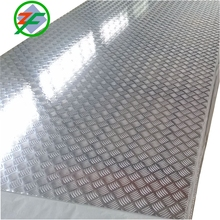Bright Finish 5 bar Embossed Skid Proof Floor Aluminum Tread Plate