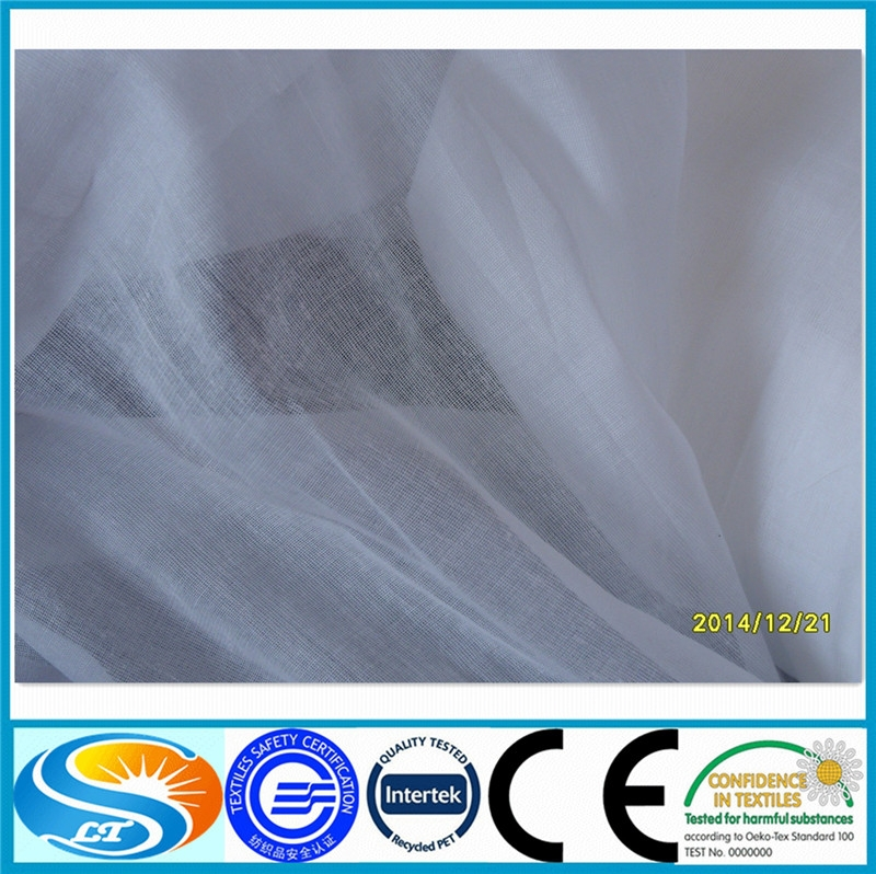 wholesale <strong>polyester</strong> spun high twist greige fabric for Turkey