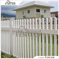 PVC White Plastic Picket Fence