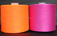 mutilcolored polyester yarn/dyed spun 100 polyester yarn for knitting and weaving supplies in china