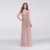 Scattered Sequin Illusion Bodice Tulle Gown Beaded Evening Dress For Teenagers