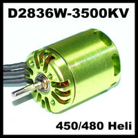 Mystery 2836 3500KV Outrunner Brushless Motor for RC helicopter 450 480 helicopter
