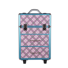 Professional hairdresser rolling cosmetic makeup trolley makeup case