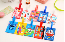 High Quality Plastic Promotional Cartoon Design PVC Luggage Tag