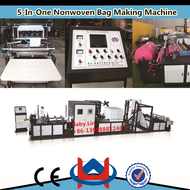 automatic nonwoven bag cutting and sewing machine