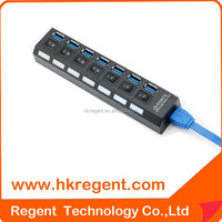 Ultra high Speed 7 port usb 3.0 hub for computer accessory
