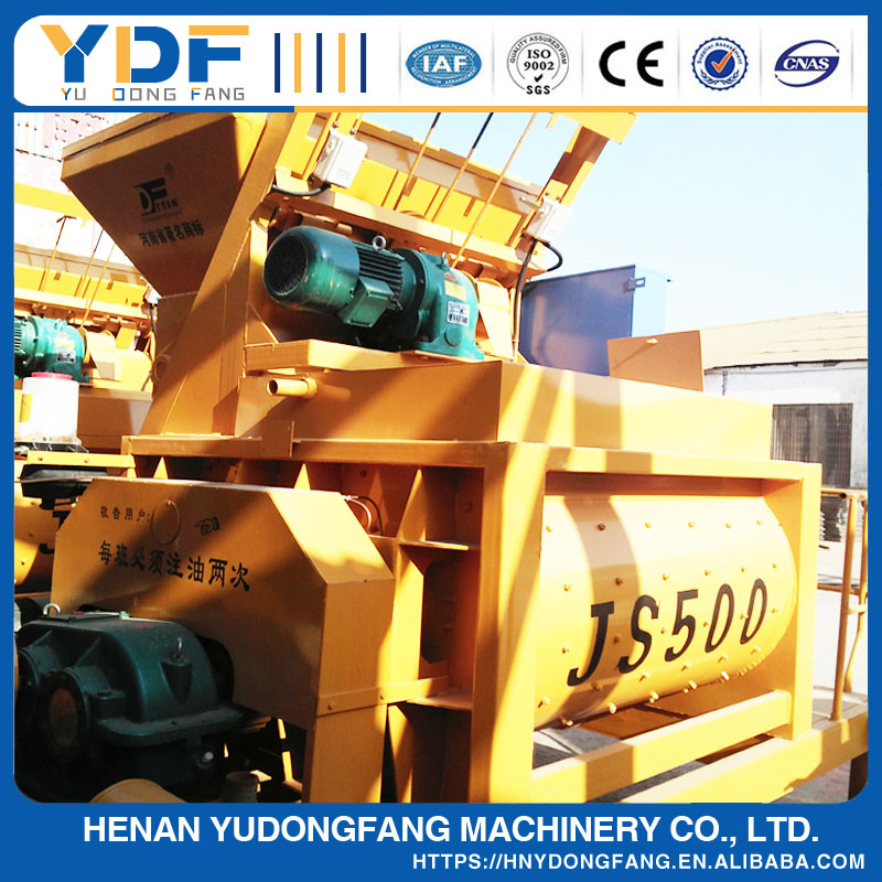 automatic type twin shaft JS500 concrete mixer
