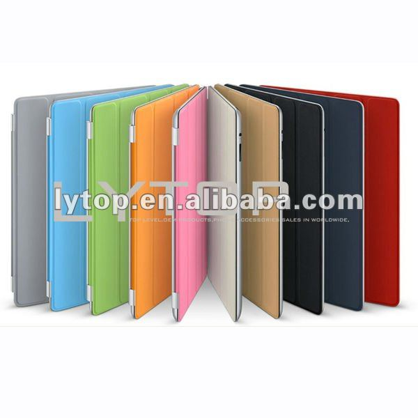 Stand PU leather pouch for new ipad