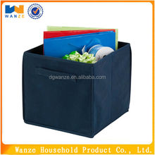 Non-woven fabric covered box cardboard cd storage