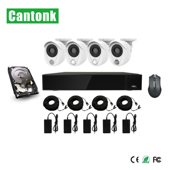1080P SMART CCTV Wireless Kit 4 Outdoor Wifi PIR Camera Home Security