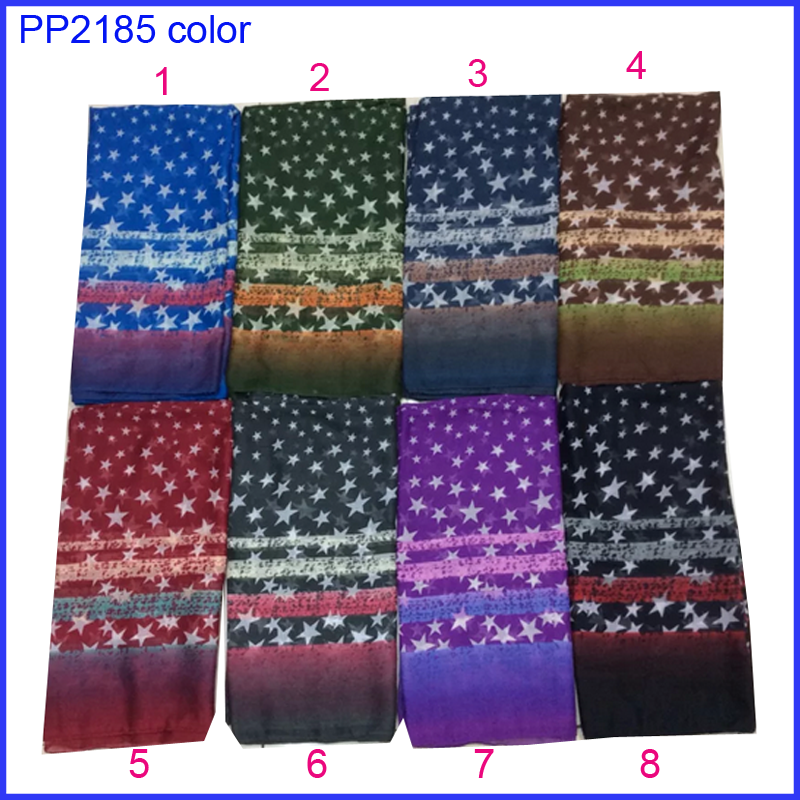 Beautiful star stripe print women scarf for wholesale