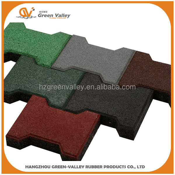 Safety Outdoor Walkway Interlocking Rubber Tile