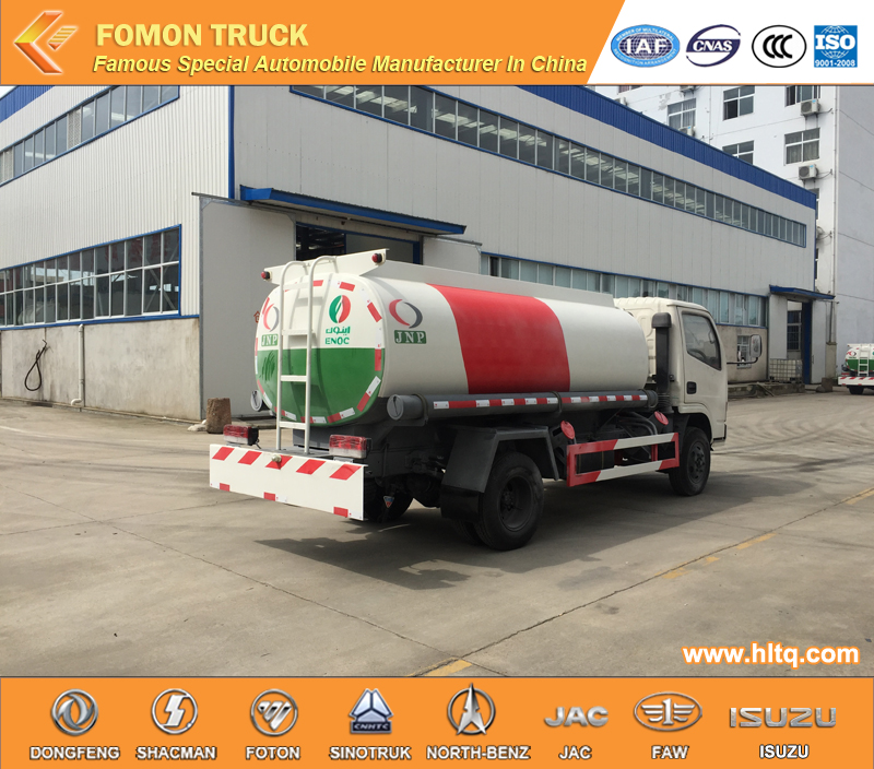 6000 liters DONGFENG refuel tank truck/fueling tank truck/diesel bowser