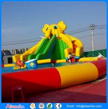 water park the new tiger cartoon large inflatable water slides
