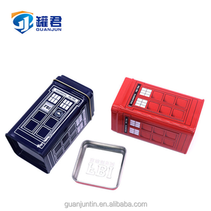 Square Embossed Candy Metal Tin Box Small Gift Tin Box