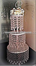 CSd-27 clear cascade cake stand 3 tier hanging crystal cake stands for wedding cakes