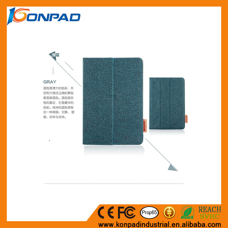 High Quality cotton cloth Case Flip tablet Case for iPad 2/3/4/air/air 2 /pro 9.7 with Card Slots