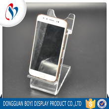 Customzied Design Large Clear Acrylic Desktop Mobile Phone Display Stand