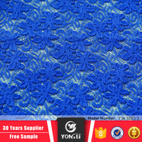 Alibaba factory price wholesale blue french eyelet lace fabric