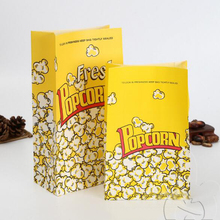 Yiwu New Arrived recycled handmade logo printing custom made Paper popcorn bags
