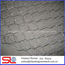 corrosion resisting galvanized/pvc coated hexagonal gabion chicken wire mesh(Anping factory)