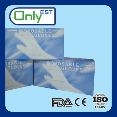 Strong tensile strength cheap disposable pre-powder vinyl gloves examination