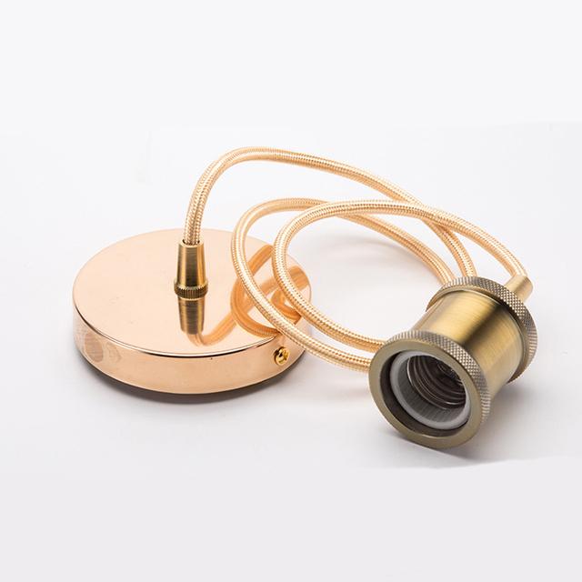 Light pendant shade ring threaded lamp holder types bulb socket light holder e26 e27 Vintage brass Copper Lamp Holder