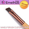 1pc wooden professional angled flat eye brow makeup brush