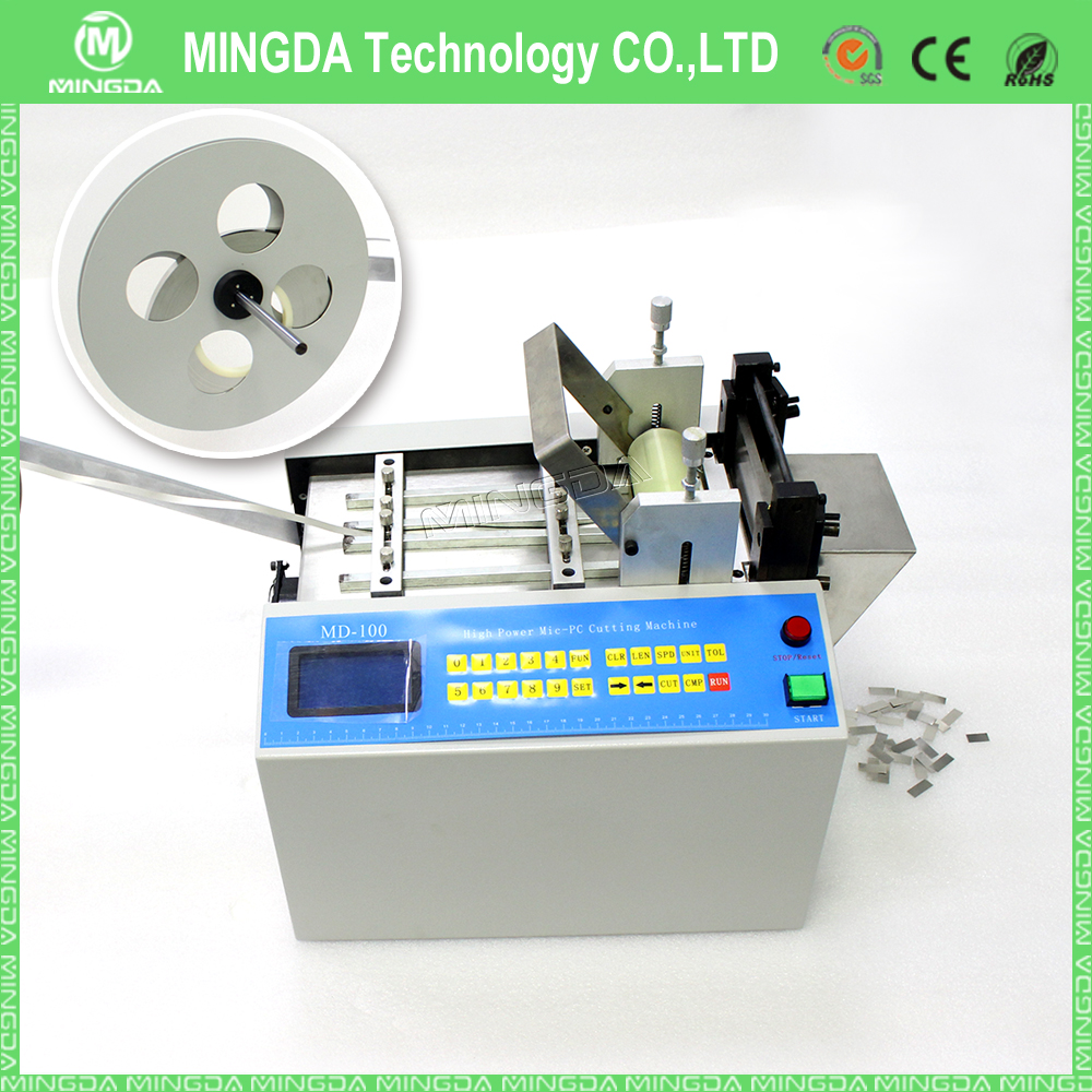 High quality Cable manufacturing equipment MD-100 PVC film and wires cutting machine , 220V nickel strip cutter for sale