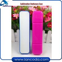 Children students school 2D sublimation pencil case Stationary Case/Cutlery box with aluminum sheets printing
