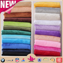 100 polyester high quality brushed velour for garment lining toys