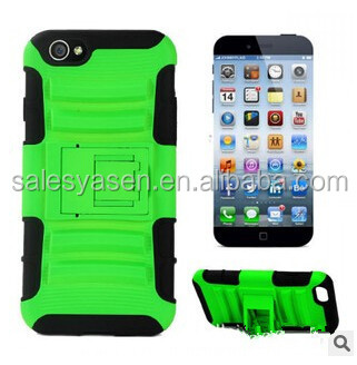 2 in1 shockproof with Kickstand PC+Silicone robot case for iphone 6