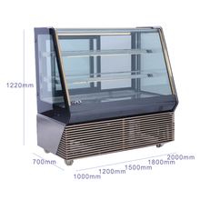 Fan cooling system pastry display cabinet commercial bakery cooler glass door cake showcase