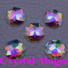 2016 cheap price flat back rhinestones 25mm acrylic sewing crystal stones