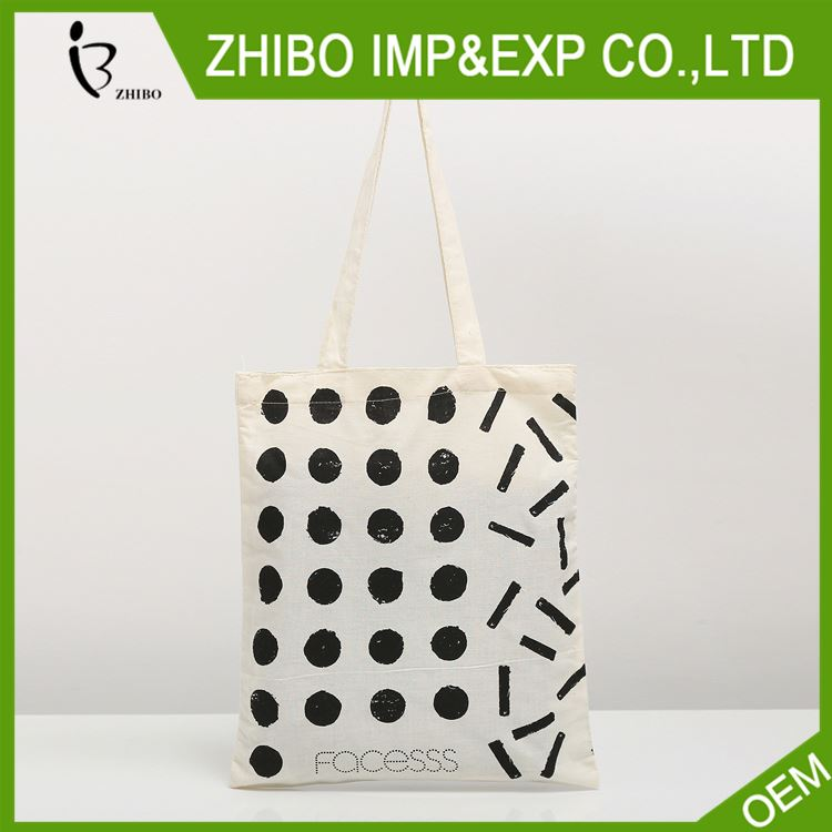 Factory sale simple design cotton shopper bag wholesale