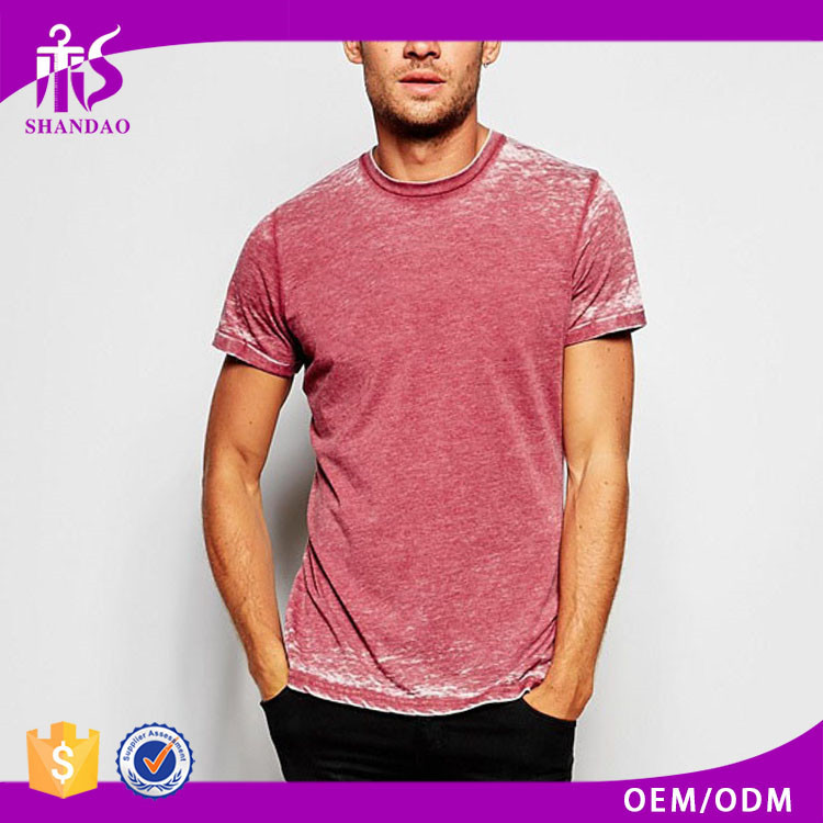 2017 Guangzhou Shandao Factory Summer New Arrivals Casual Short Sleeve O-Neck 180g 100% Cotton Wholesale Acid Wash T Shirts