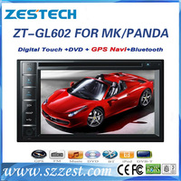 ZESTECH 2 din car dvd with gps navigation car radio for Gelly MK/ Panda indash dvd player bluetooth
