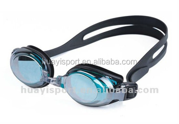 Popular silicone big racing high quality adult swimming goggles made in china