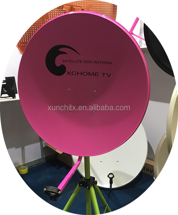 Parabolic Satellite 60cm High Quality Dish Antenna 65cm Pink Color