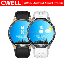 KW88 1.39'' Round Screen Single SIM Card WiFi GPS Android Smart Watch Phone