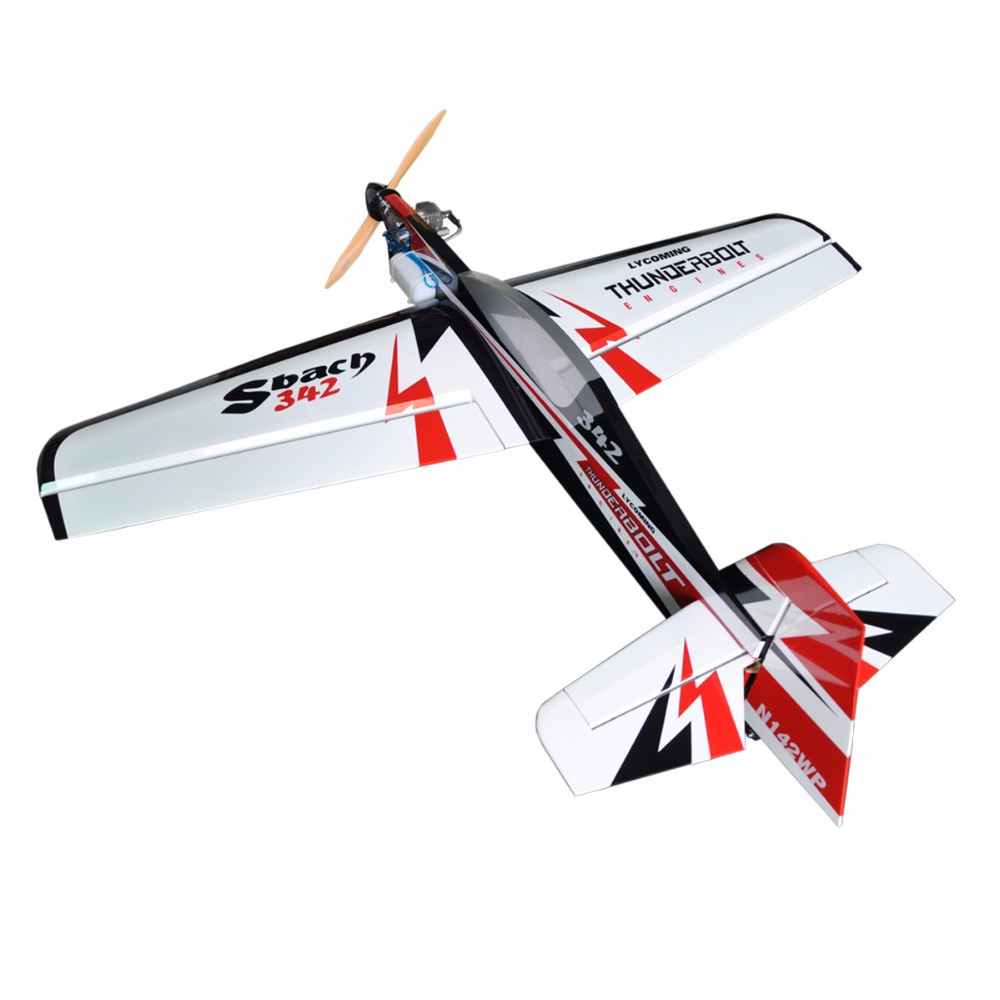 "Sbach 342 65"" balsa wood rc 20cc gas engine aeroplane model"