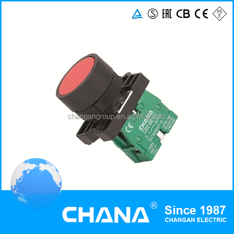 CE and RoHS Approval BA21 Electrical 22mm IP65 protection handle key pushbutton switch