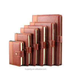 leather Hardcover Diary spiral organizer planner aganda cover