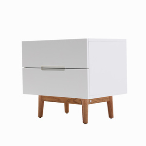 OEM Accept White Mdf Storage Cabinets Bedside Night Table
