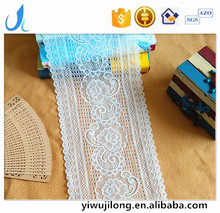 high quality 18cm elastic lace fabric nylon spandex lace trim stretch lace for sexy lingeires