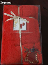 PET gift packing for promotional print LOGO Branded Bath towel