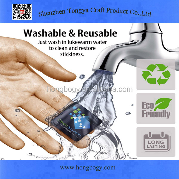 Washable microfiber mobile screen cleaner